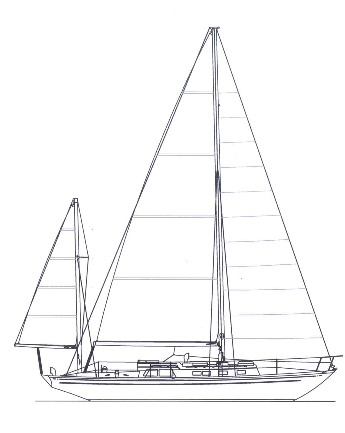 Line Drawing Yacht : Wooden boat plan